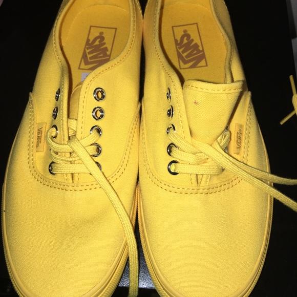 Vans Shoes | Authentic All Yellow Vans